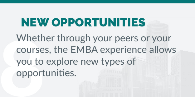 Considering EMBA - Reason 8 - New Opportunities